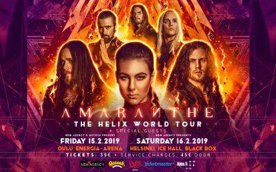 AMARANTHE (SWE) – THE HELIX WORLD TOUR16/02/2019