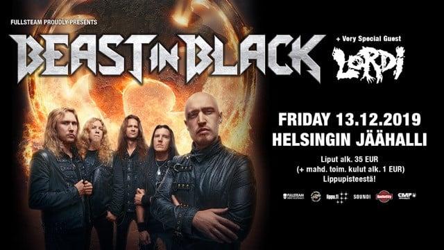 Beast In Black Friday with very special guest Lordi, Jäähalli Helsinki 13.12.2019